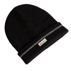 Black thermal insulated beanie