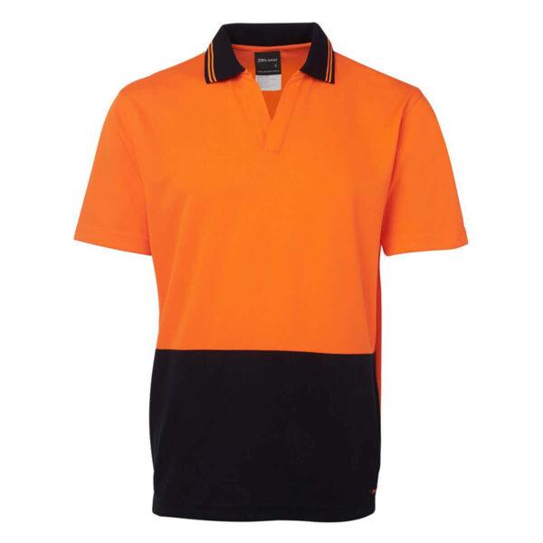 HiVis Short Sleeve Non Button Polo