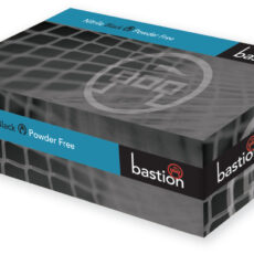 Bastion BNG7871 Nitrile Black Gloves, Powder Free