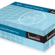 Bastion BNG6932 Nitrile Long Cuff Blue Gloves, Powder Free