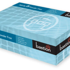 Bastion BNG6832 Nitrile Blue Gloves, Powder Free