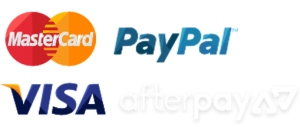 we accept mastercard, paypal, visa and afterpay
