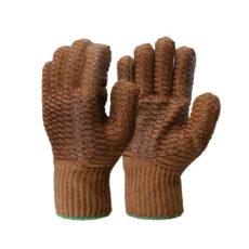 PVC Lattice CrissCross Latex Palm Glove/Pack12