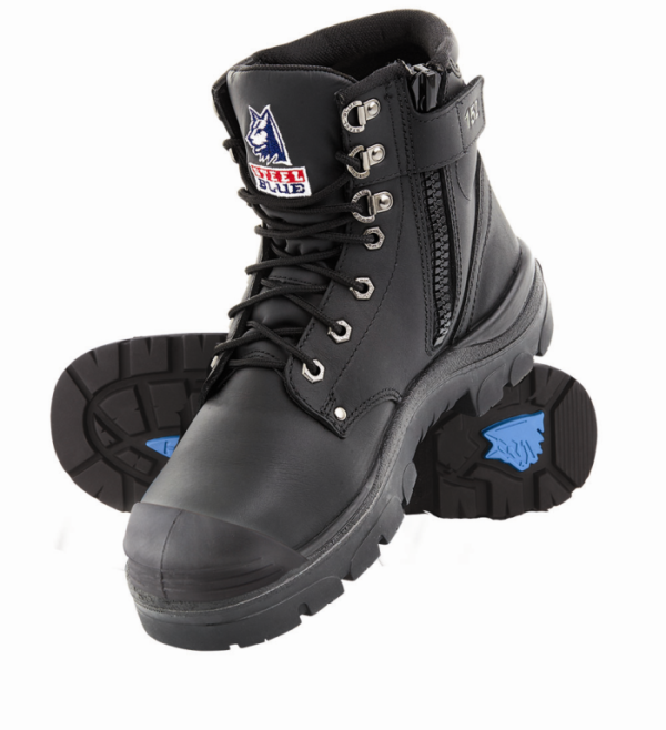 Steel Blue Argyle Zip Safety Boot