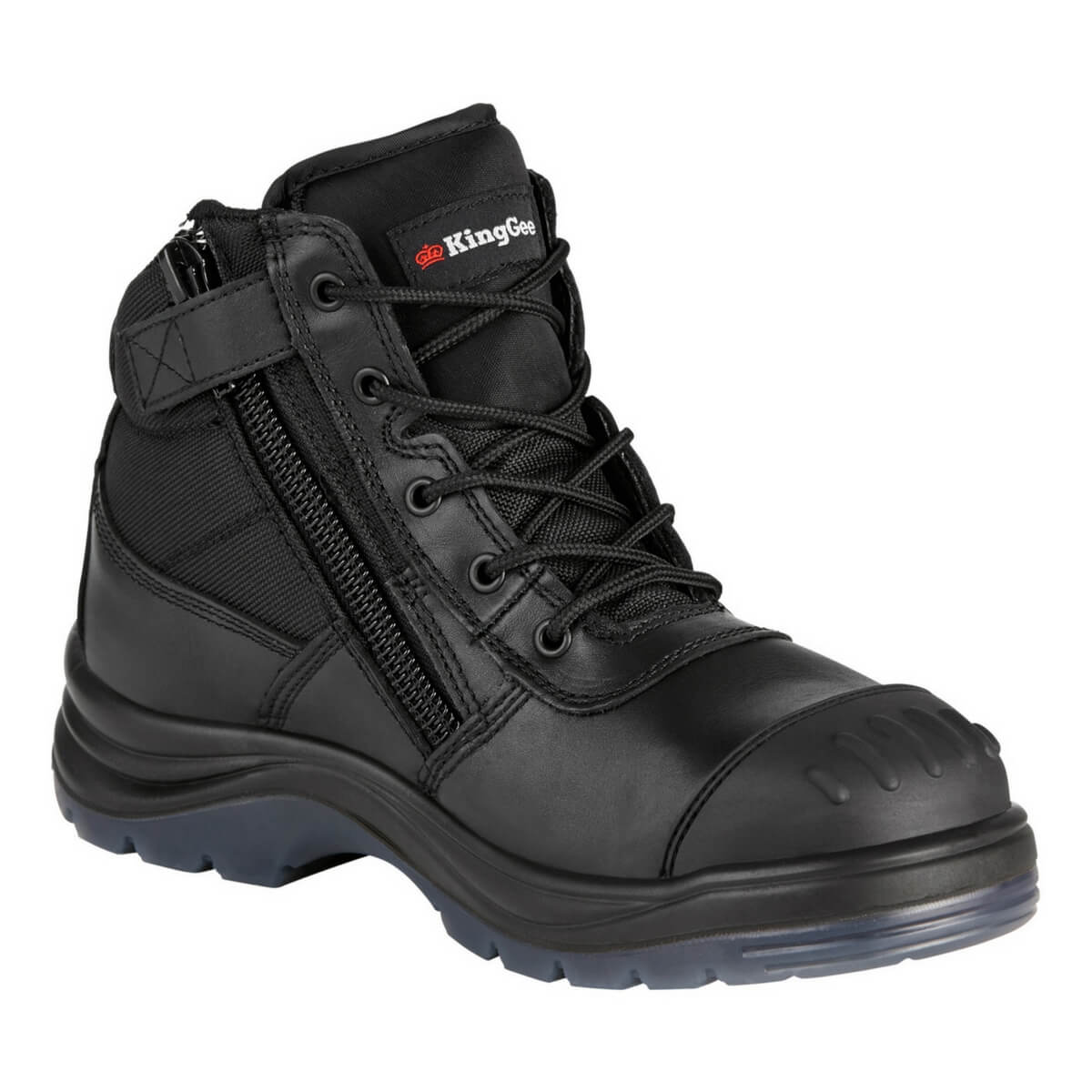 5219512f37a KingGee Tradie Zip Side Safety Boot - Black