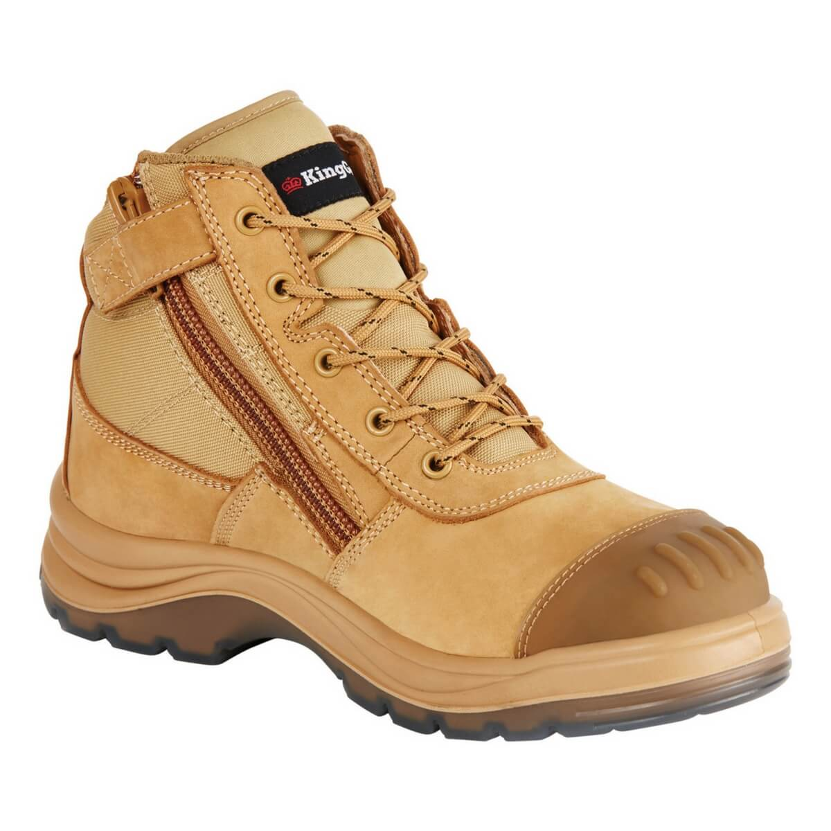 c53144014ff KingGee Tradie Zip Side Safety Boot - Wheat