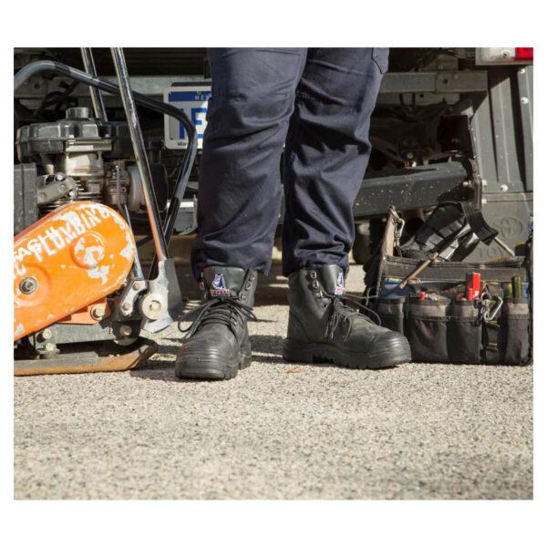 Steel Blue Argyle Zip Safety Boot