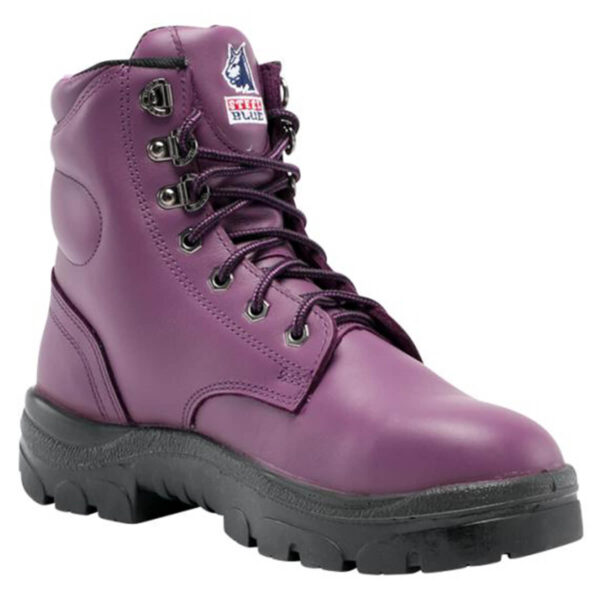 Steel Blue Argyle Ladies Lace Up Safety Boot