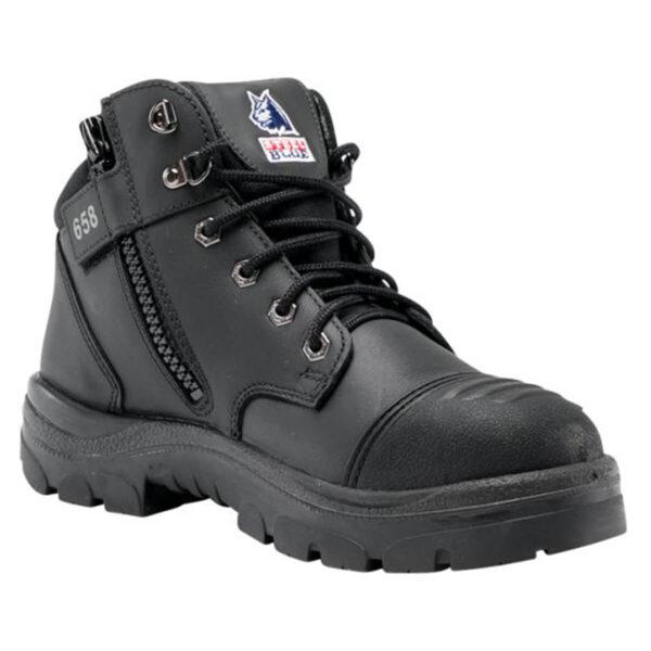 Steel Blue Parkes Zip Safety Boot
