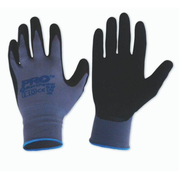 Black Panther Nylon Gloves, Latex Grip