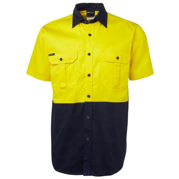 Hivis Short Sleeve Cotton Drill Shirt
