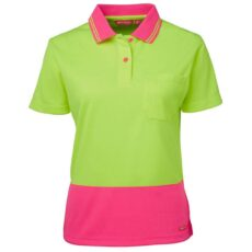 JB's 6LHCP Ladies HiVis Short Sleeve Comfort Polo Shirt
