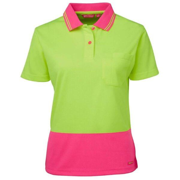 JB's 6LHCP Ladies HiVis Short Sleeve Comfort Polo Shirt