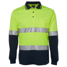 6HVSL HiVis Long Sleeve Polo Shirt