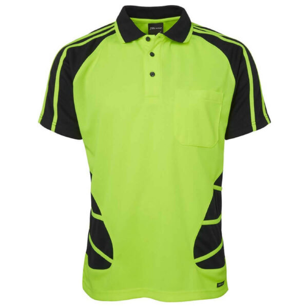 Spider Short Sleeve Polo Yellow Black