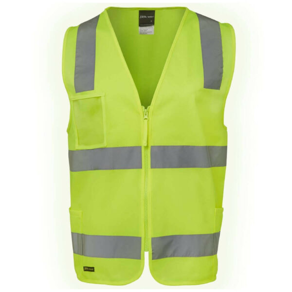 Safety Vest with Zipper & ID Pocket
