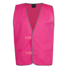 hivis safety fluorescent vest, pink, aqua, red, purple