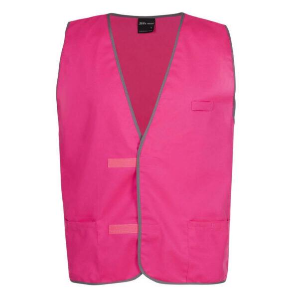 hivis safety fluorescent vest, pink, aqua, red, purple