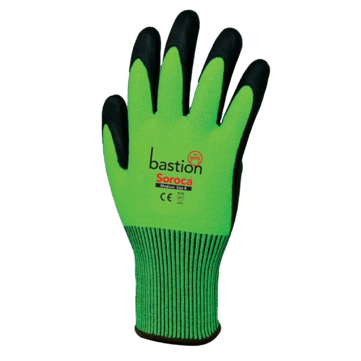 Bastion Soroca Hivis Cut Resistant Glove Badger Australia