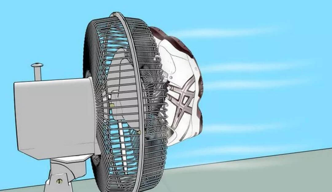 how to dry boots with a fan