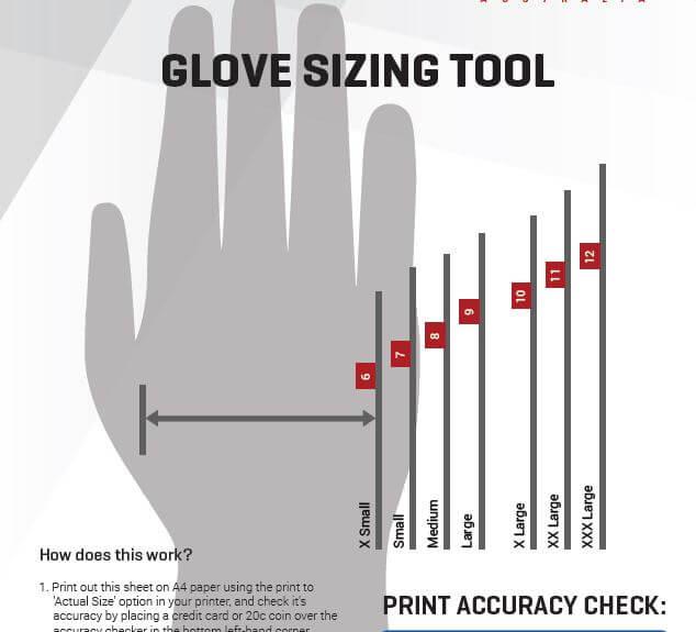 Badger Australia Glove Sizing Tool