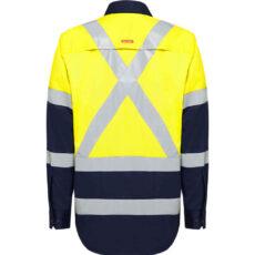HiVis X-Back (D+N) L/S Cotton Shirt