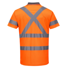 HiVis X-Back Short Sleeve (D+N) Polo