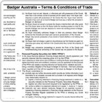 Badger Terms and Conditions