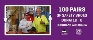 Badger Australia donates 100 pair of boots to Foodbank Australia