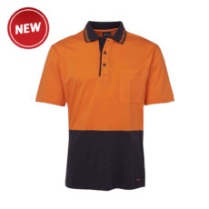 HiVis Short Sleeve Cotton Polo