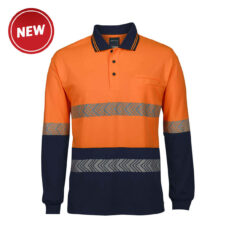Hivis Long Sleeve Segmented (D+N) Polo