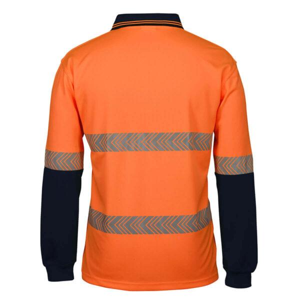 Hivis Long Sleeve Segmented (D+N) Polo