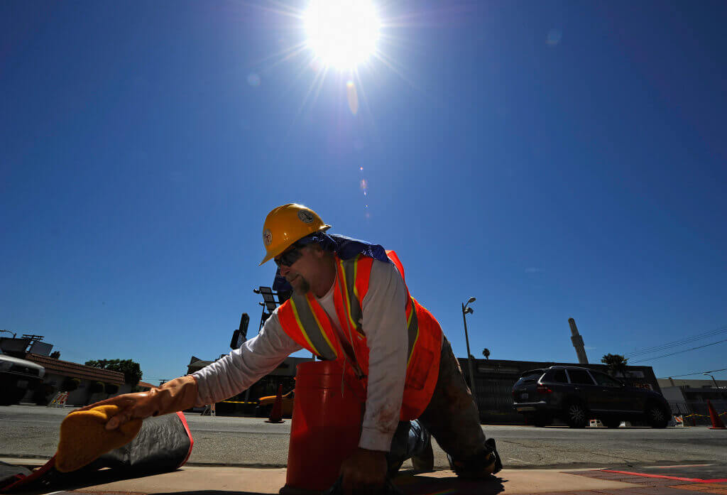 risk of Heat stroke when working in the sun