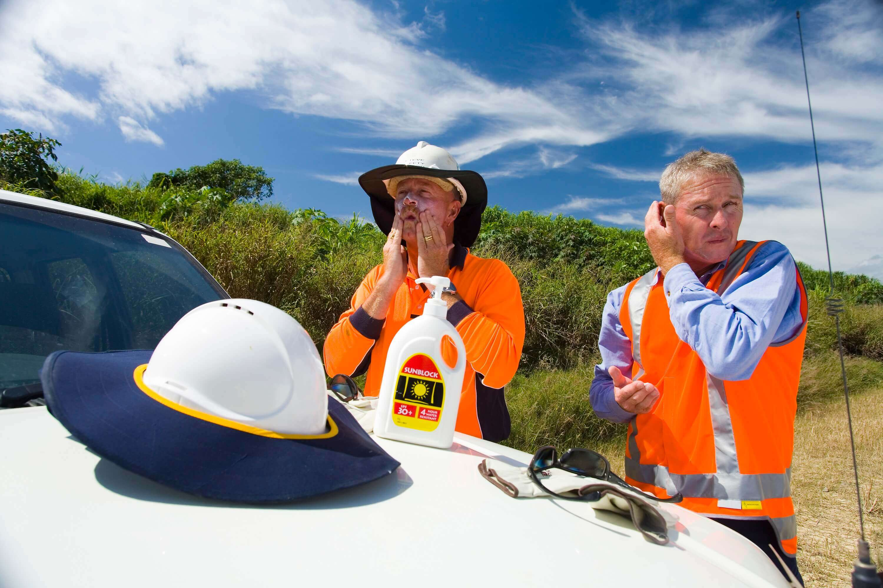 Wear all the PPE required to stay safe in Australian summer