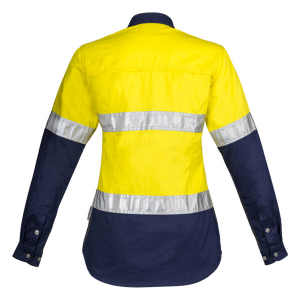 Womens Hivis Spliced Industrial (D+N) Shirt