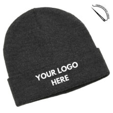 Heather Beanie with Embroidered Front Logo