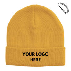 Acrylic Beanie with Embroidered Front Logo