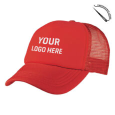 Foam Mesh Trucker Cap with Embroidered Front Logo