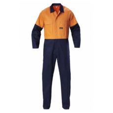 Hard Yakka Hivis Cotton Drill Coverall
