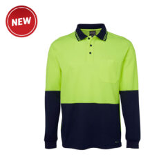 Hivis Cotton Back Long Sleeve Polo